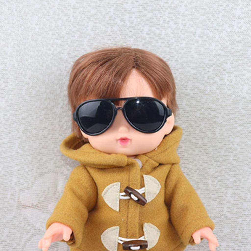 10 inch Doll Oval Eyewear Glasses For Mellchan Doll Outfit Accs Black