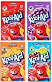 kool aid juice pack - Kool-Aid Unsweetened Drink Mix Packets, Assorted Flavors - Tropical Punch, Orange, Cherry, Grape, 48 Packets