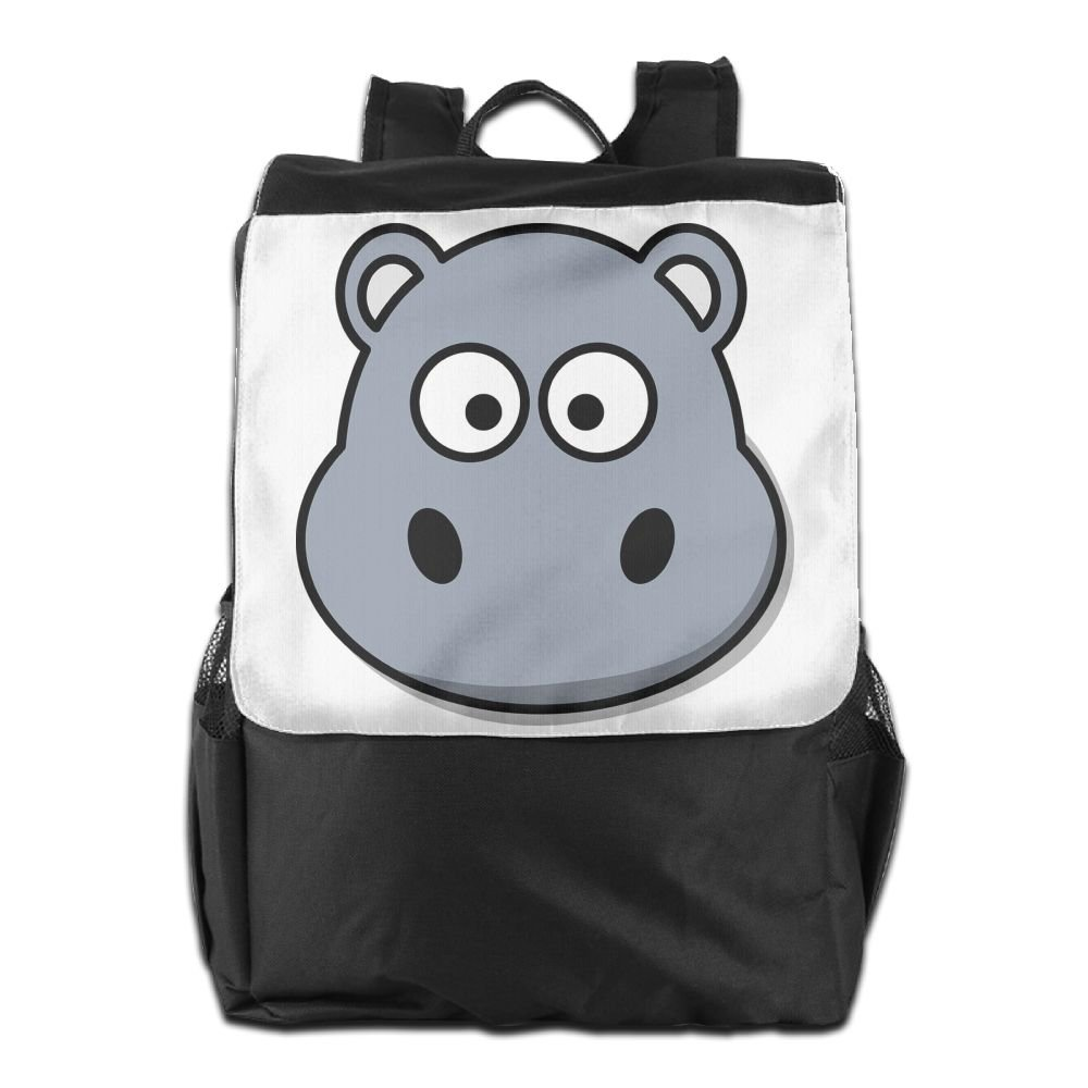 0b460f8c5 Cartoon Hippo Face Convenient Lightweight Travel Hiking Backpack Daypack  Gift 80%OFF