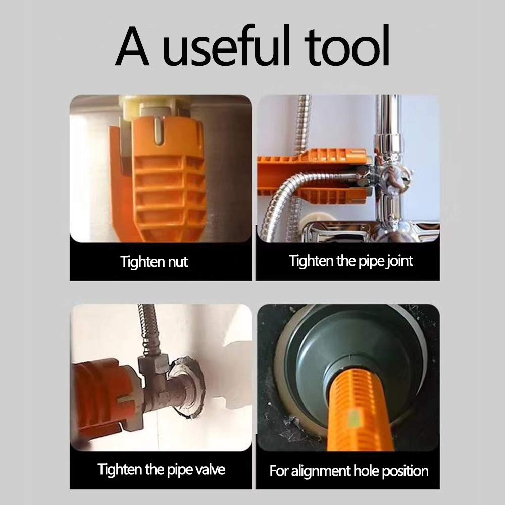 orange WREOW Faucet and Sink Installer,Multifunctional Faucet Wrench Tool,Double Head Sink Installer Tool Water Pipe Spanner Tackle For Plumbers And Homeowners Lily/'s Gift