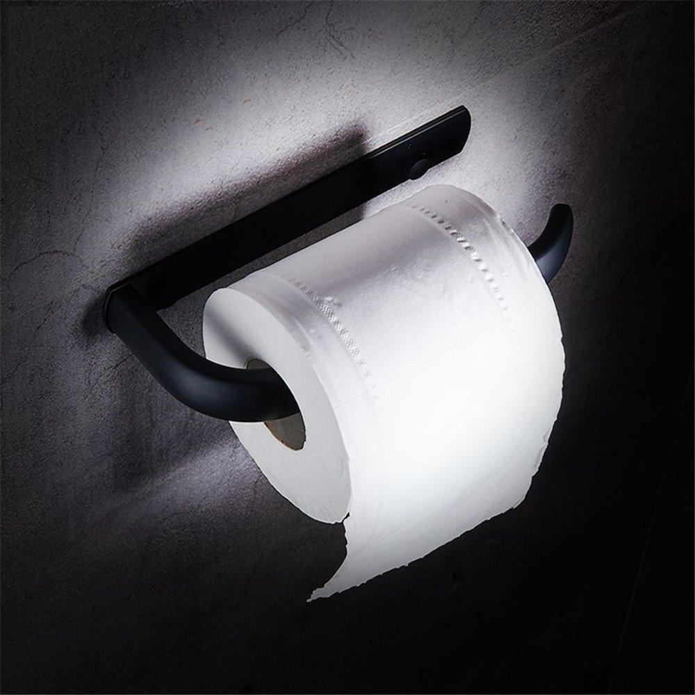 FHLYCF European style archaize stainless steel black toilet paper rack, toilet paper towel rack, bathroom roll paper machine, toilet paper rack, hotel retro mobile phone rack
