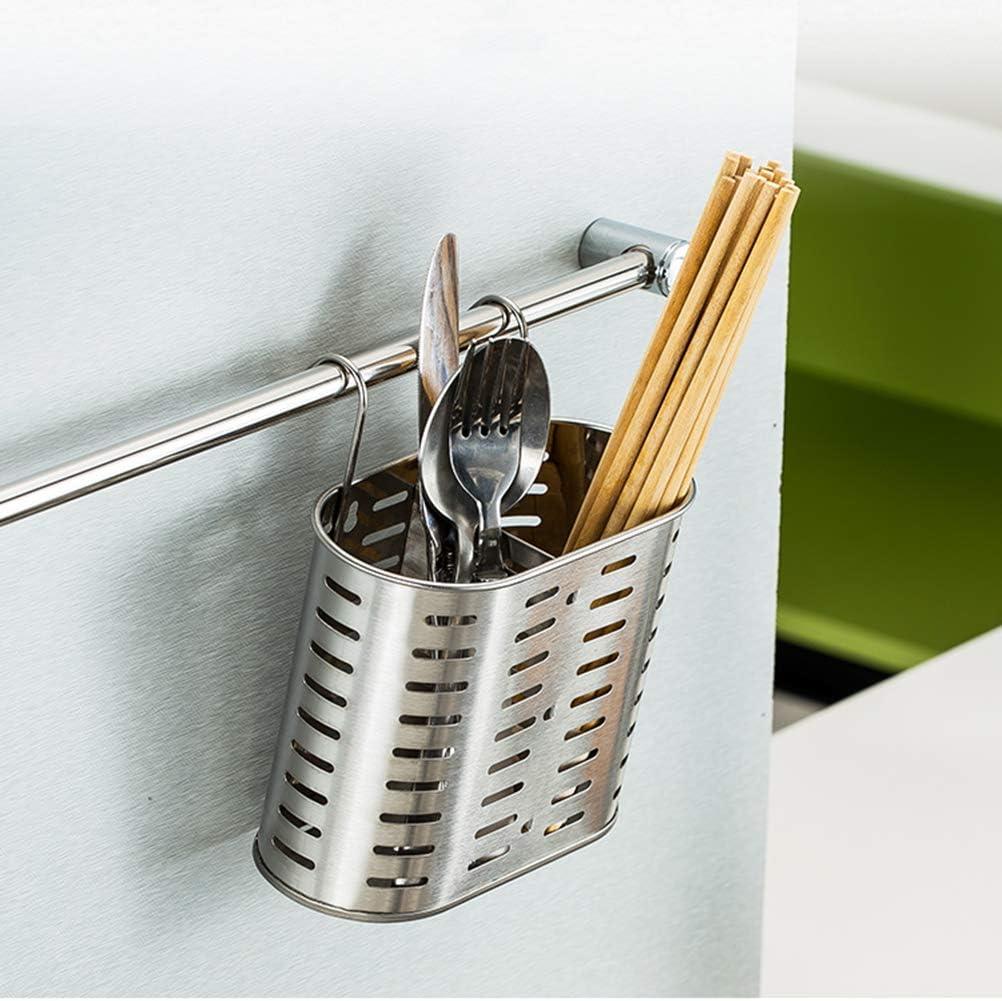 BESTONZON Soporte para Utensilios de Cocina de Acero Inoxidable Organizador de Cocina para Tenedores Cubiertos Palillos Estantes de Secado