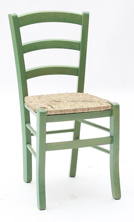 Sedie In Legno Colorate Per Cucina.Arredinitaly Set Composto Da 2 Sedie In Legno Colorato Con