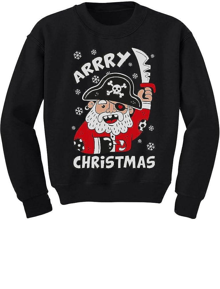 TeeStars - Arrry Christmas Cute Pirate Santa Ugly Xmas Toddler/Kids Sweatshirt 4T Black GMPlhZagf5Plf59ho