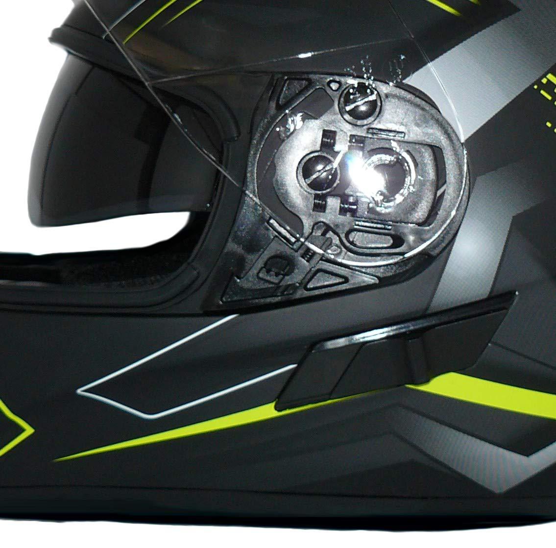 Black XS Protectwear Casco integral con visera H520-Arrow-GB Talla XS