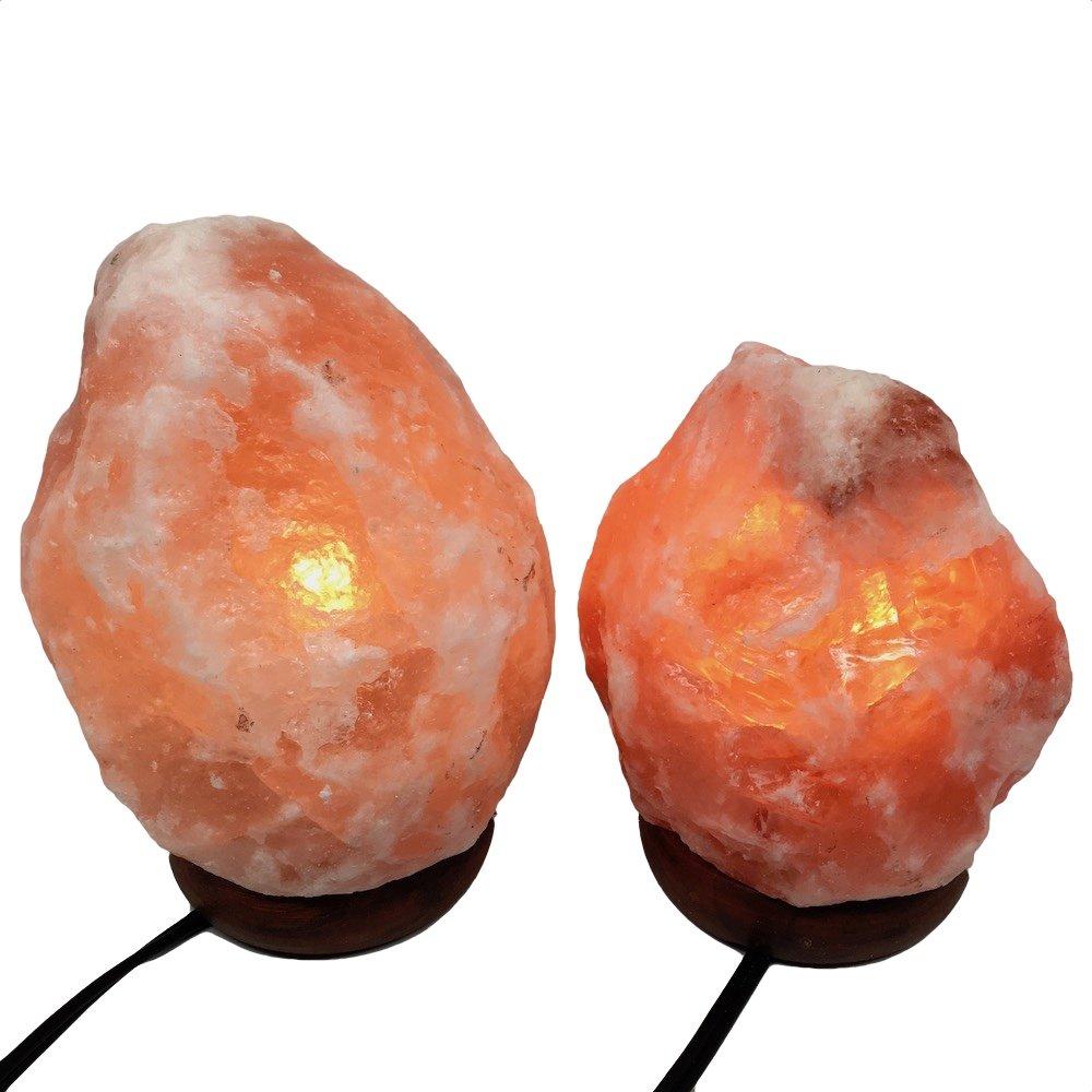 2x Himalaya Natural Handcraft Rough Raw Crystal Salt Lamp 6.5''-7.25''Tall, X075, Exact Item Delivered by Watan Gems