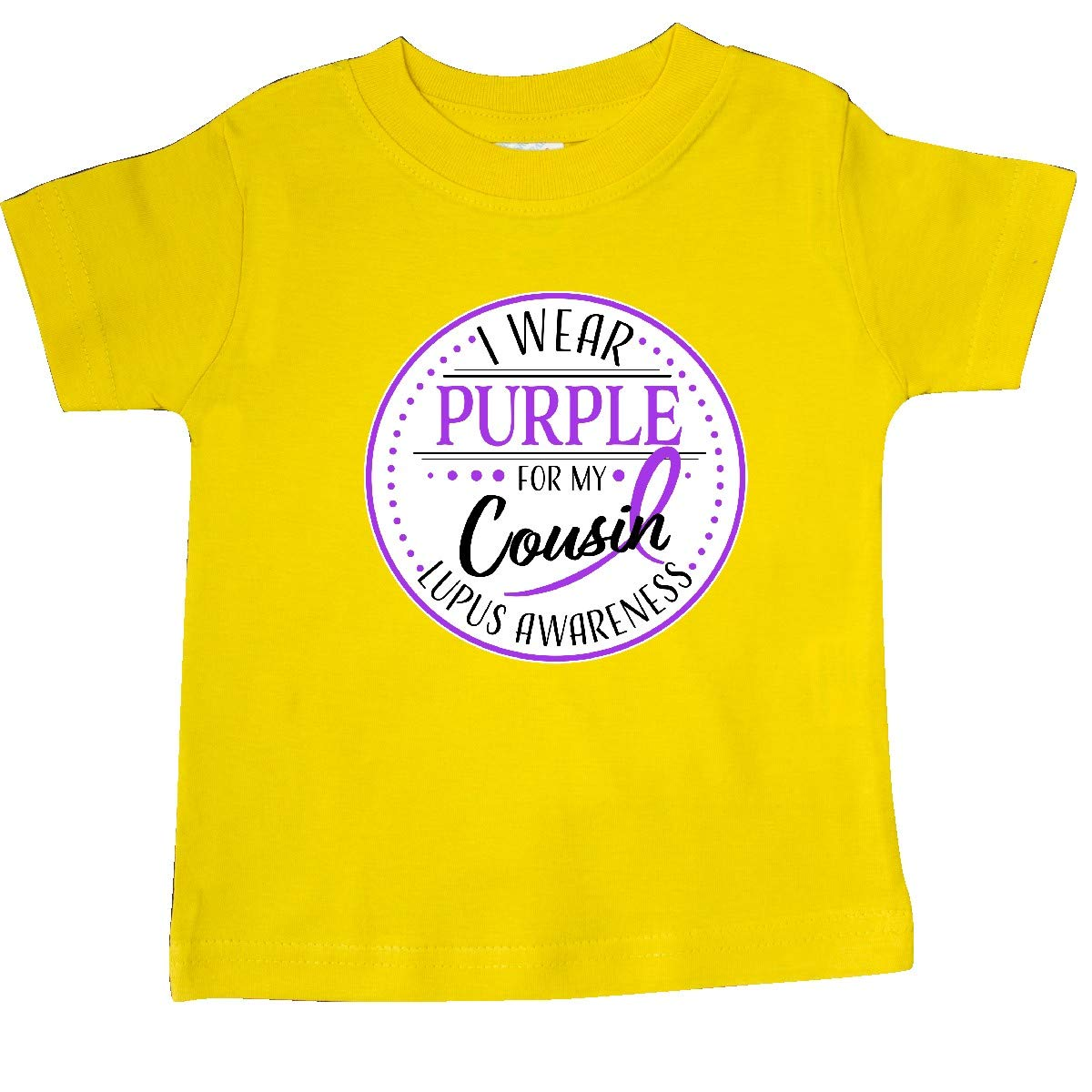 inktastic I Wear Purple for My Cousin Lupus Awareness Baby T-Shirt