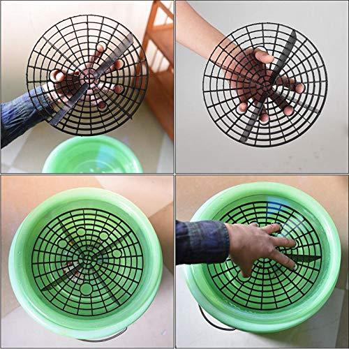Houkiper Car filter Car Wash Grit Guard Insert Washboard Water Bucket Filter Scratch Dirt L