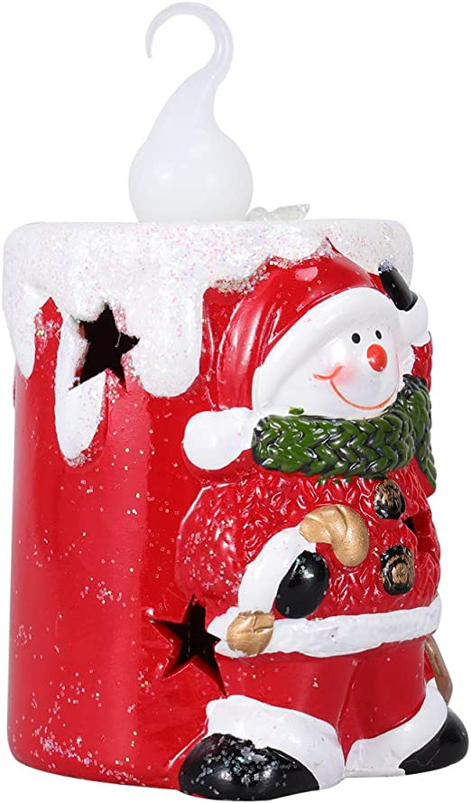 HOLIDAY FLAMELESS DECORATIVE BRAND NEW CANDLES SANTA SNOWMAN TREE