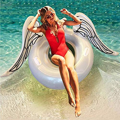(BXoo Inflatable Angel's Wing Pool Float, Funny Pool Party Swimming Floating Toys for Adults & Kids)