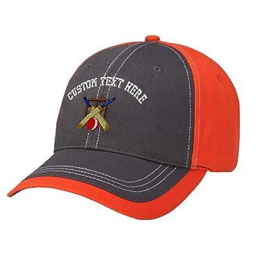 Amazon.com  Custom Text Embroidered Sport Cricket Logo Cotton ... e708b81c532