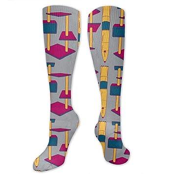 Jxrodekz Cartoon Rocket Polyester Cotton Over Knee Leg High ...