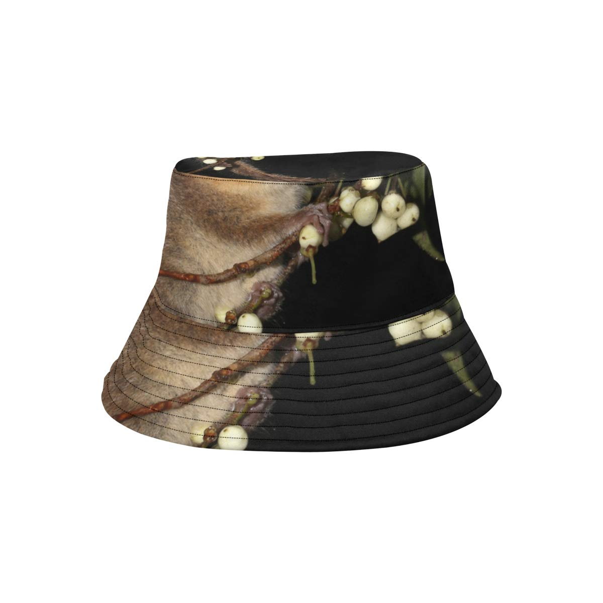 Petite and Pleasant Finger Monkey New Summer Unisex Cotton Fashion Fishing Sun Bucket Hats for Kid Teens Women and Men with Customize Top Packable Fisherman Cap for Outdoor Travel