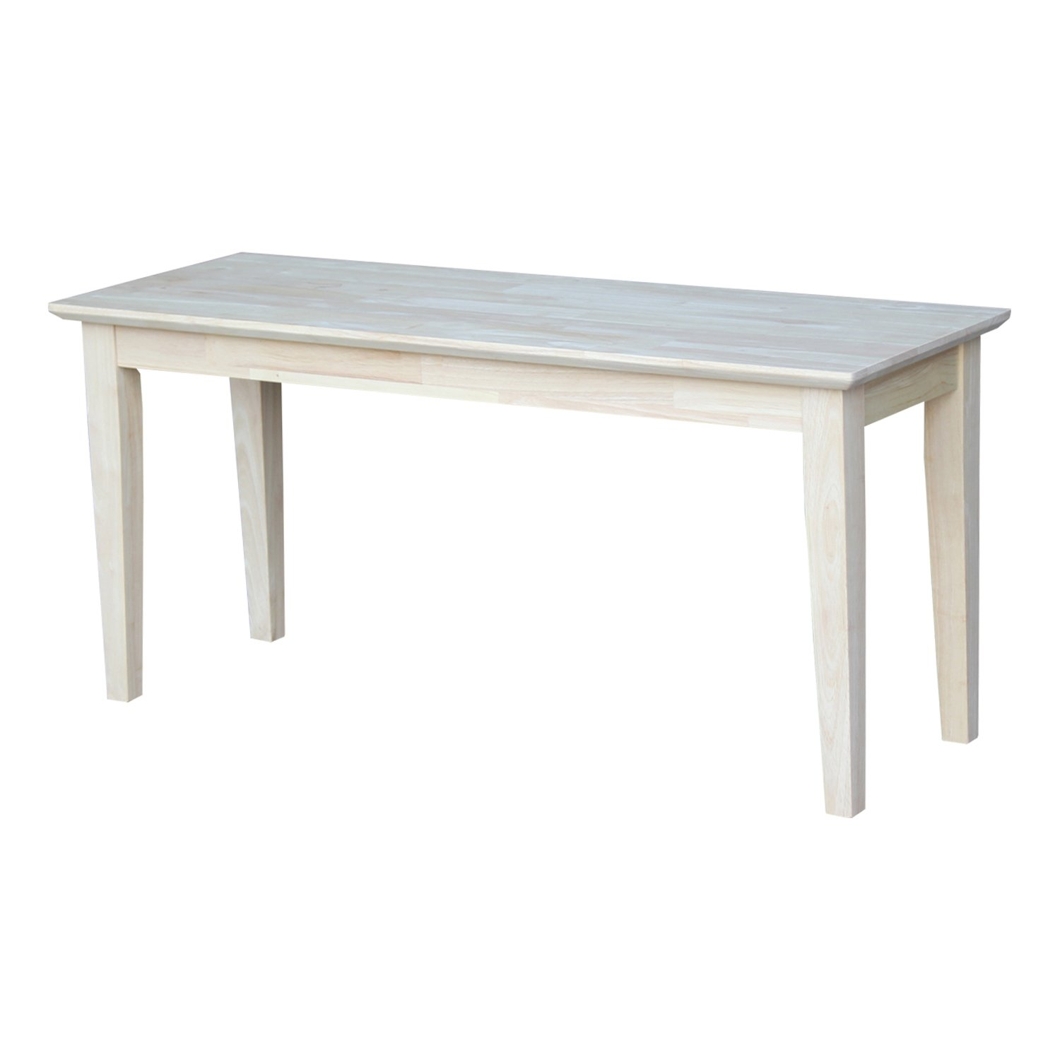 International Concepts BE-39 Shaker Style Bench, Unfinished