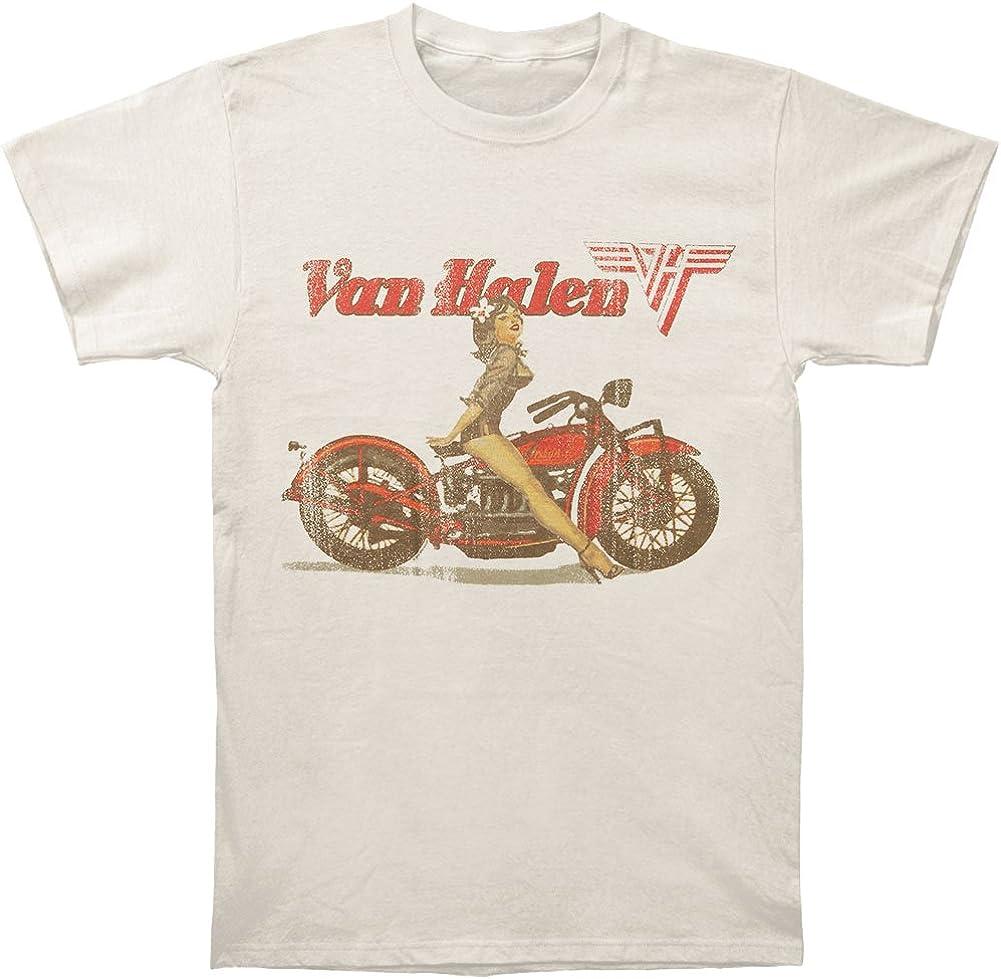 FEA - Camiseta - Hombre de Color Beige de Talla Small - Van Halen Biker Pinup Beige Uomo (Camiseta) (Small): Amazon.es: Ropa y accesorios