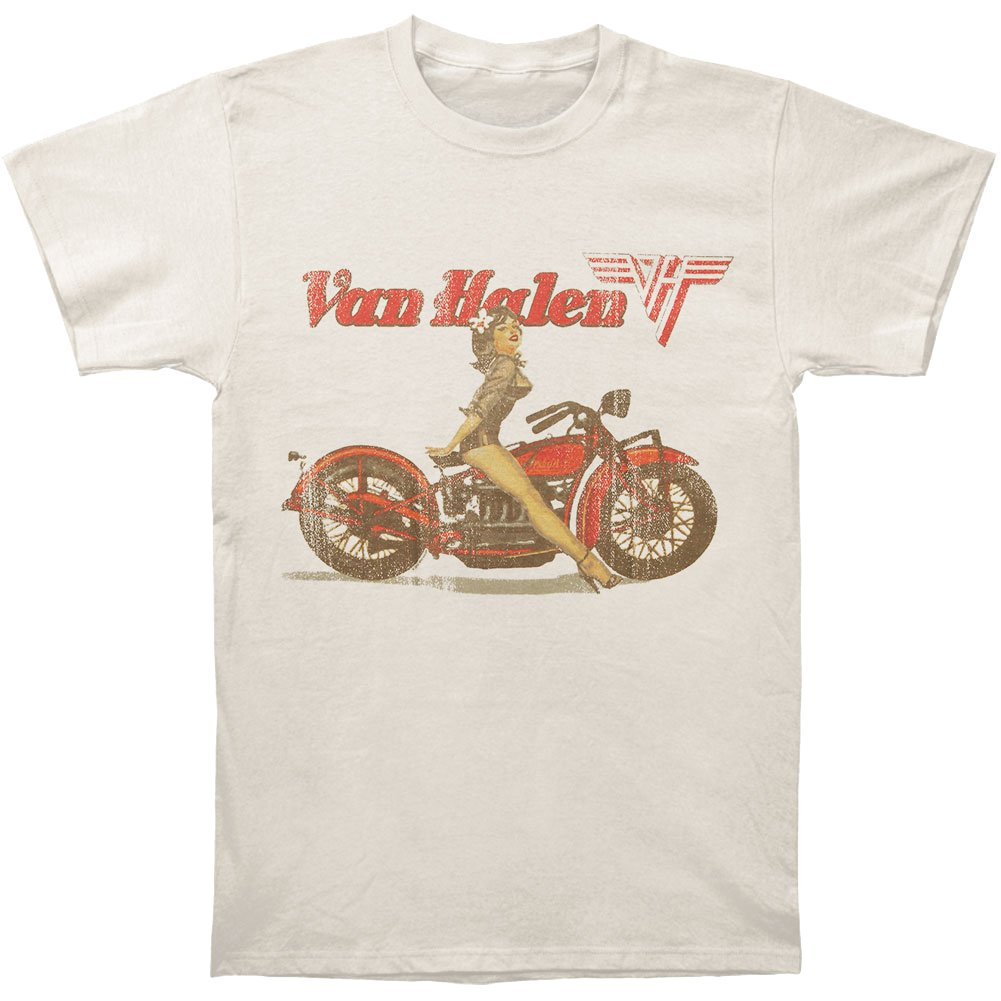 9497cb70ea4 Constructed of 100% Cotton for all day softness and comfort. Tumble Dry  Medium  Machine Wash Van Halen Biker Pin Up T-shirt ...