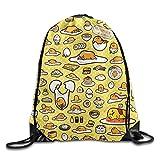 BVILL Gudetama Drawstring Shoulder Bag Backpack Tote Sports Bag Review