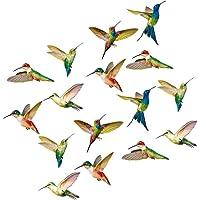 GARNECK 16 Piezas de Pegatinas de Colibrí Calcomanías de Colibrí Anticolisión para Ventanas Previene Golpes de Aves para…