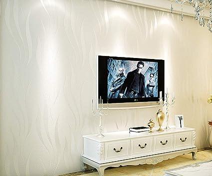Homdox Textured Wallpaper Modern Non Woven 3d Wave Pattern