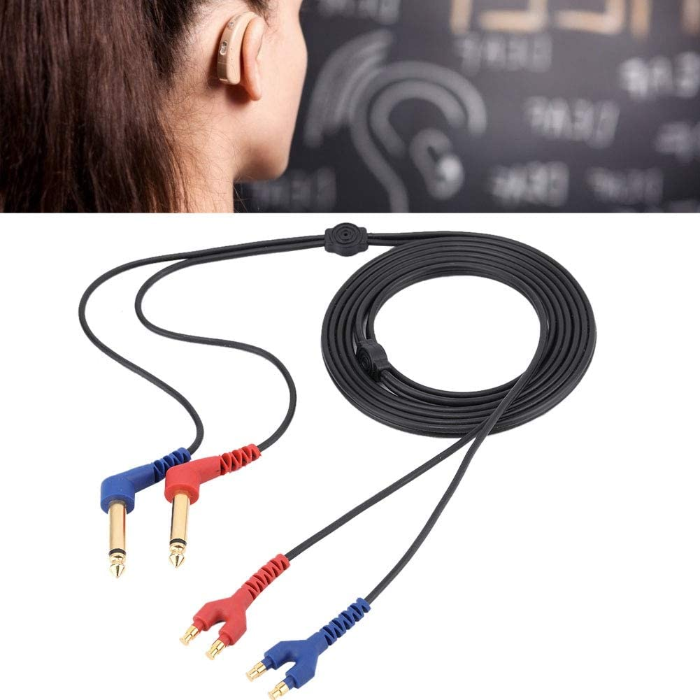 Audiómetro Cable para Auriculares Audiómetro Cable para Auriculares para conducción de Aire para audífonos Audiómetro Audífono