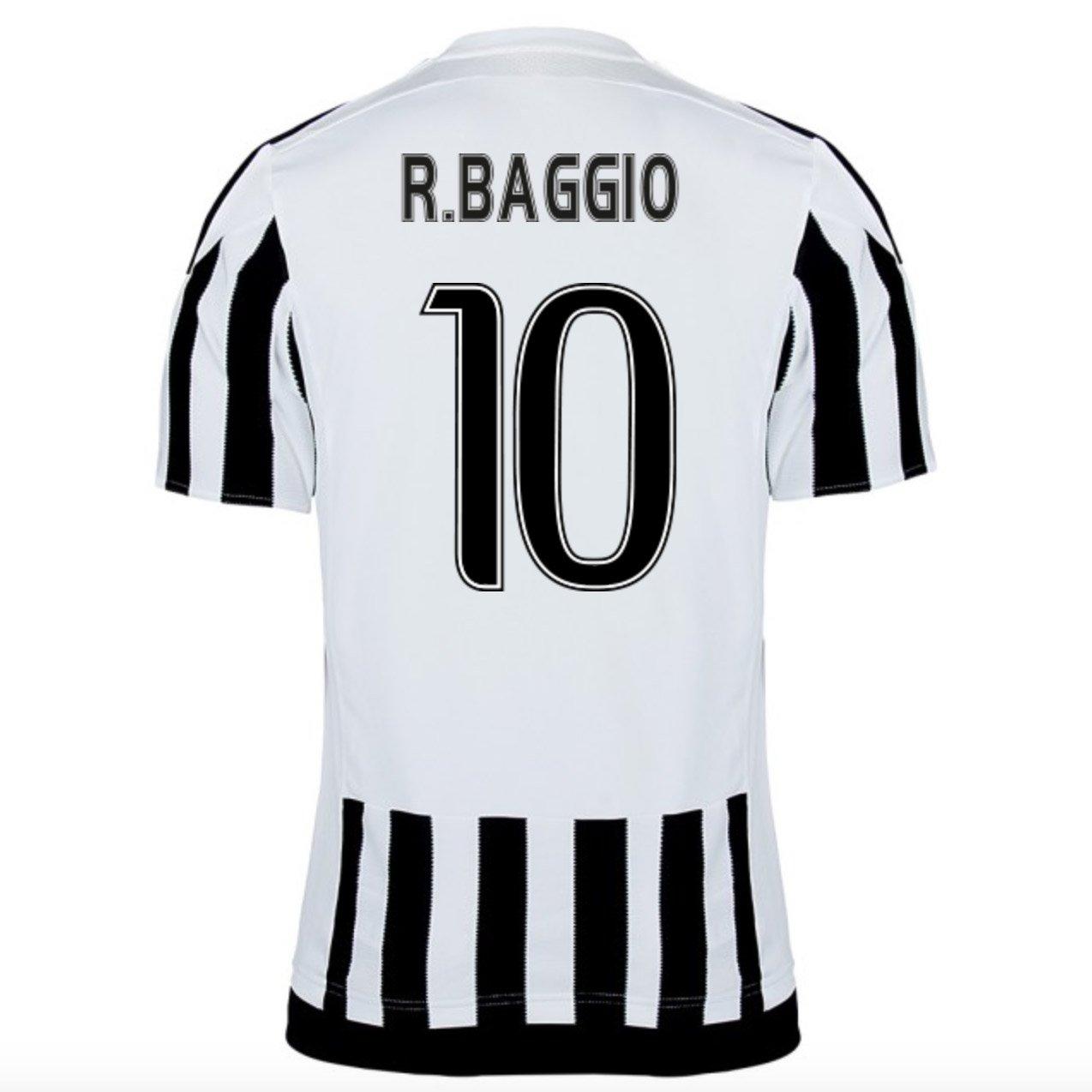 2015-16 Juventus Home Shirt (R.Baggio 10) Kids B077VKY7B6White XL Boys 32-34\