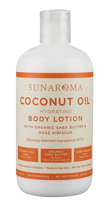 Sunaroma Lotion Body 13 Ounce Coconut Oil (384ml)