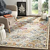 Safavieh Madison Collection MAD611B Cream and Multi Distressed Vintage Bohemian Area Rug (12' x 18')