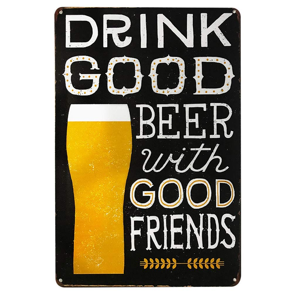 Drink Good Beer KODY HYDE Targa in Metallo Decorazione Cartello Vintage Ferro Battuto Avvertimento Scudo Acciaio Placca per Bar Cafe Office Pub Soggiorno