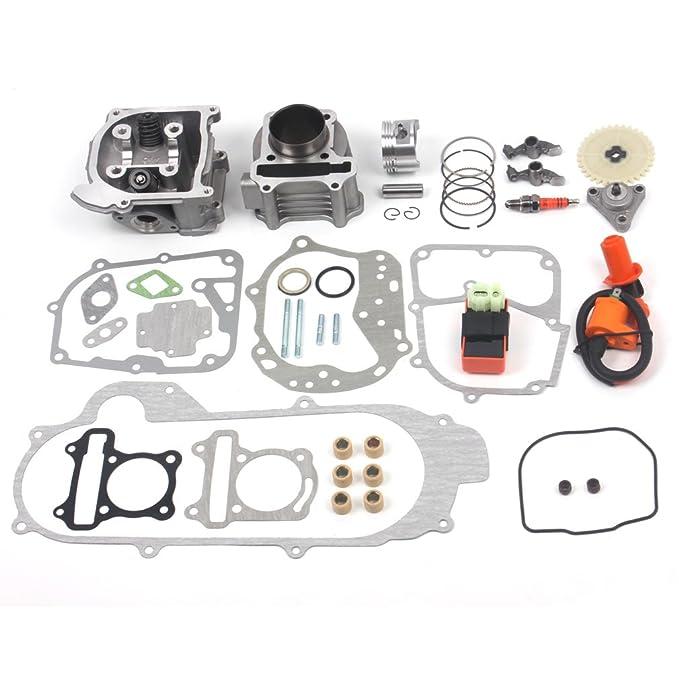 Kit de perforación de 100 cc para GY6 49 CC, 50 CC y 139QMB, para motores de scooter de 50 mm. Set mejorado con bujía de rendimiento Racing CDI.