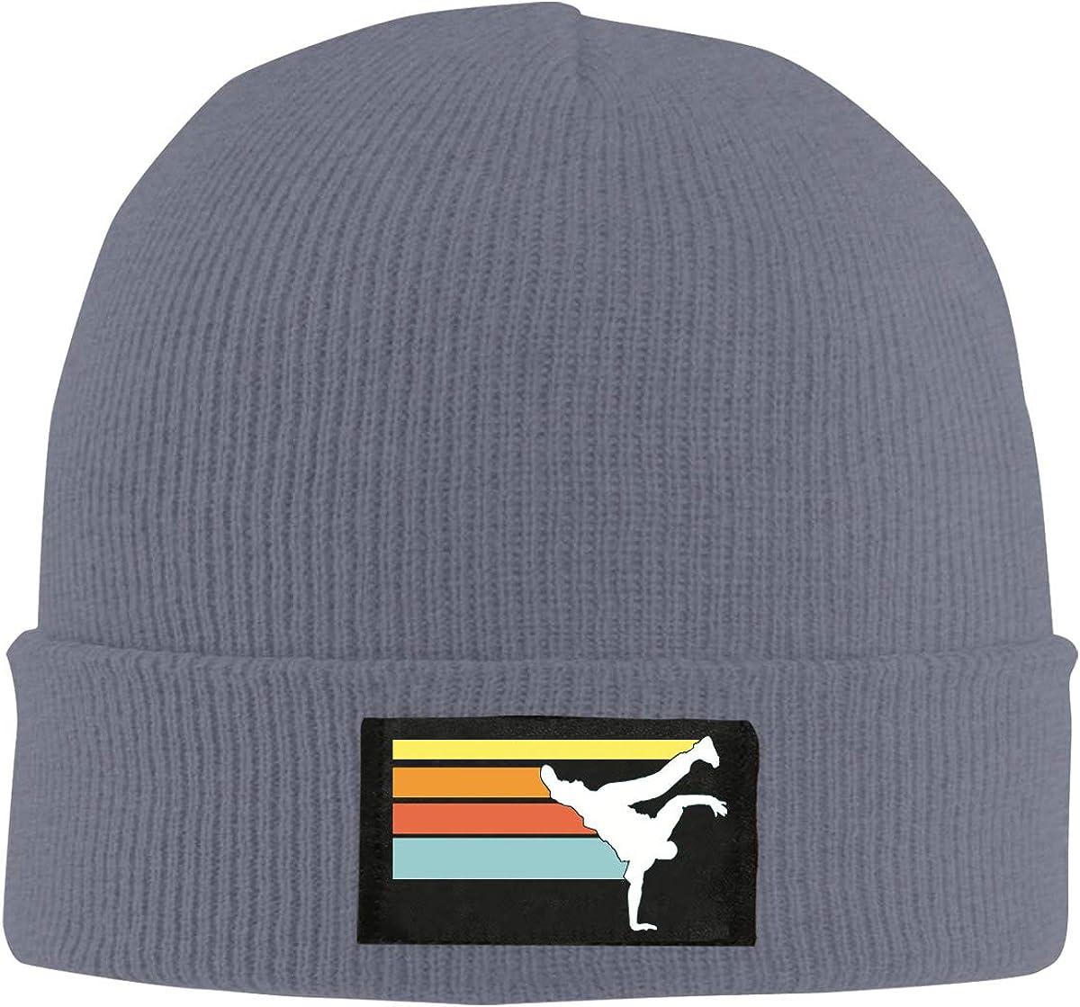 Unisex Vintage Hip Hop Breakdance Knitted Hat 100/% Acrylic Winter Beanies Cap