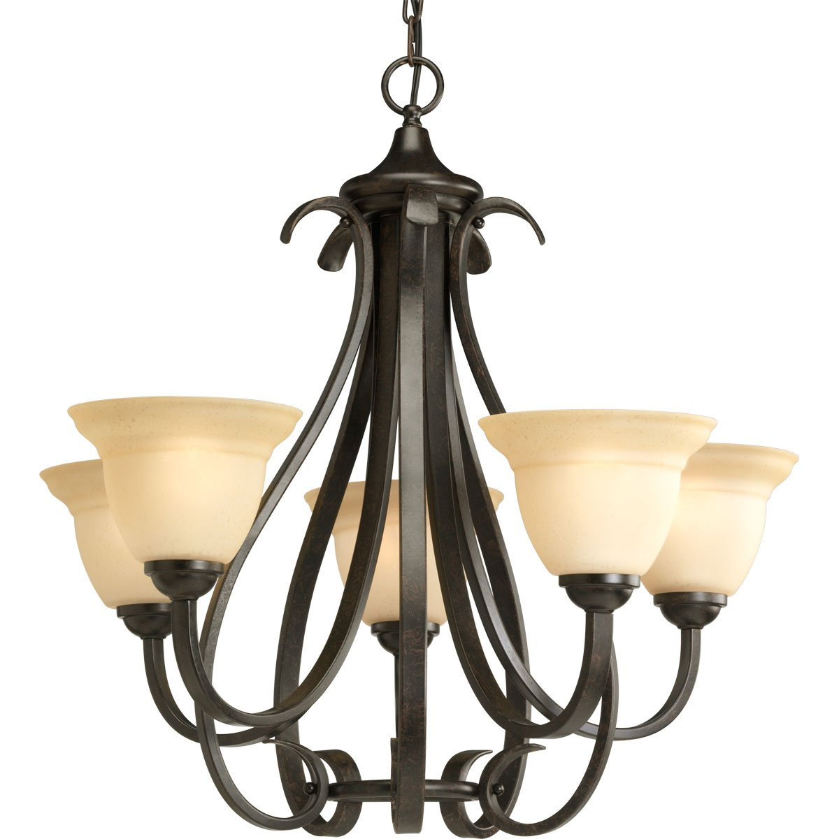Progress Lighting P4416-77 5-Light Torino Chandelier, Forged Bronze by Progress Lighting