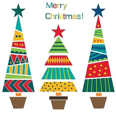 vinilo arbol navidad Ruikey Etiqueta De La Pared Del Rbol De Navidad Vinilo Pegatinas Decorativas Etiqueta De La Ventana De Navidad Arbol De Navidad Decoracin 25 70cm