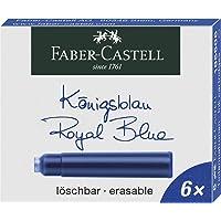 Faber-Castell 185506 - Cartuchos de Tinta estándar, 6 unidades), color azul