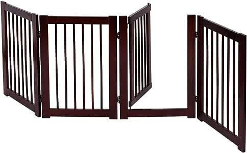 COSTWAY Barrera de Puerta de Seguridad Rejilla para Perros Mascotas Puerta Escalera Protección Plegable de Madera (203 x 76 x 1,8cm): Amazon.es: Bebé