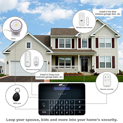 Apartment Security Systems: Alarm System, Hausbell Professional Wireless Smart GSM