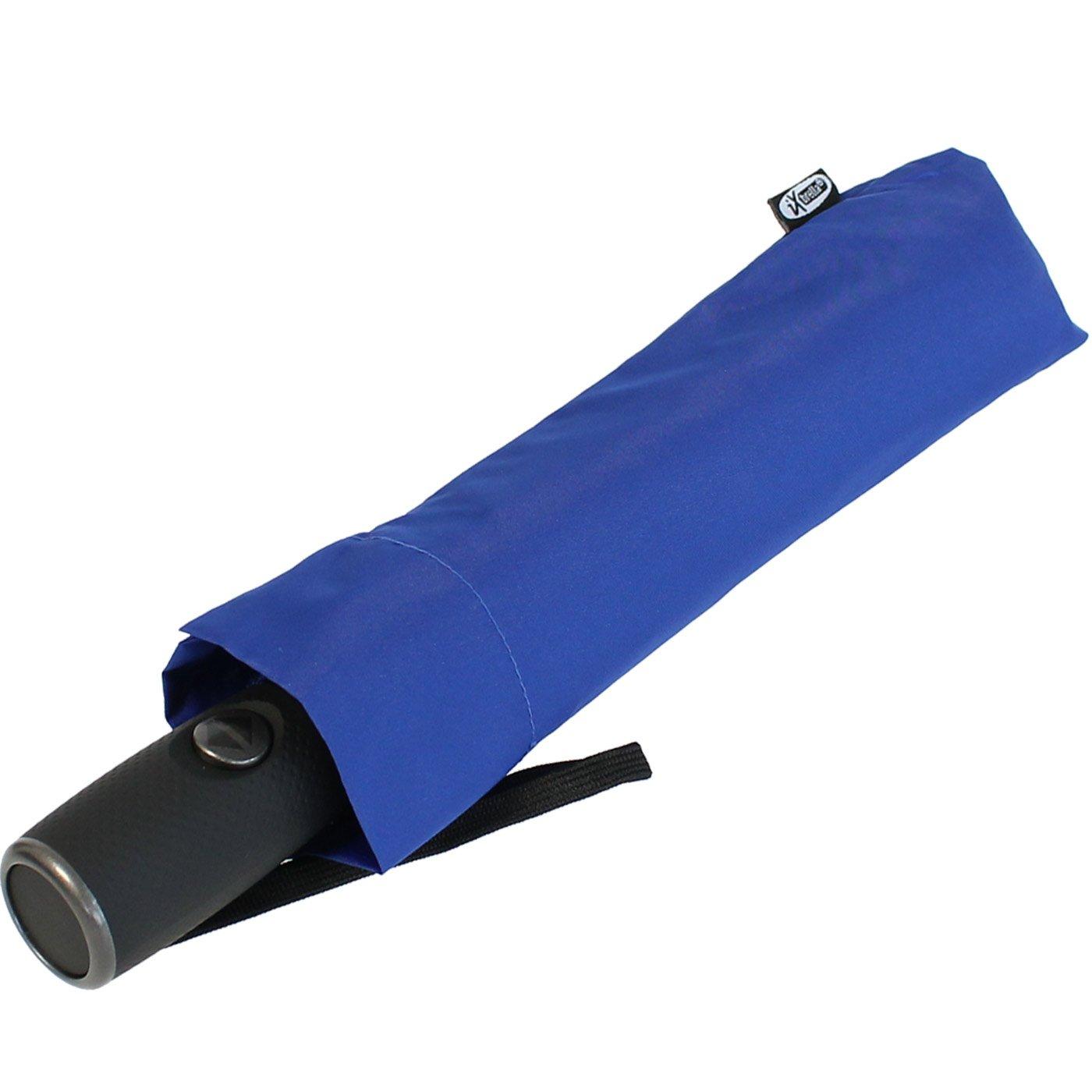XXL parapluie de poche pour homme et femme–FULL Class 122cm Grand Toit avec et fermeture automatique Bleu bleu 122 cm