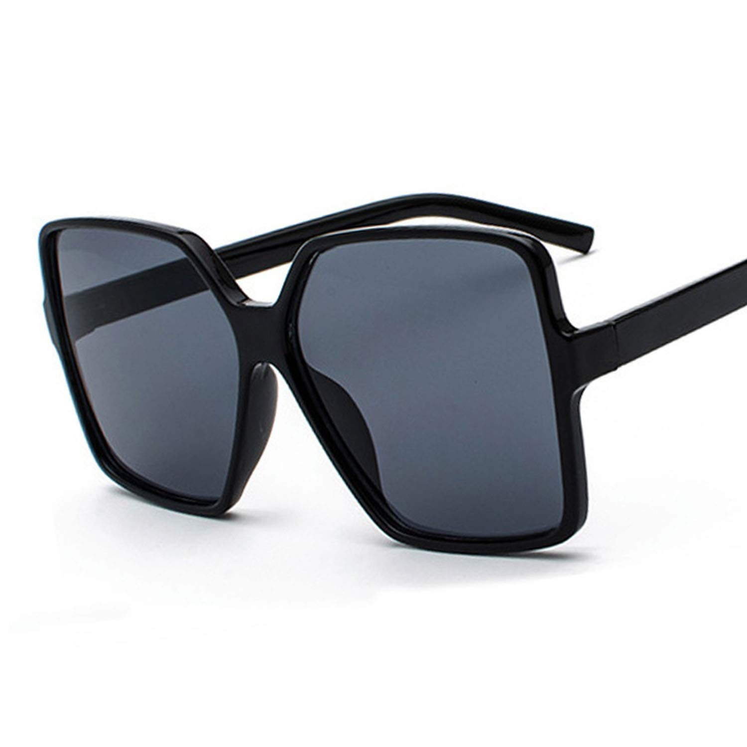 Amazon.com: Oversized Square Sunglasses Women Double Colors ...