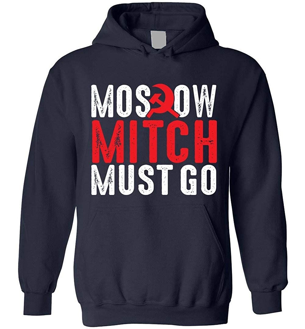 TSHIRTAMAZING Moscow Mitch Must Go Blend Hoodie Navy