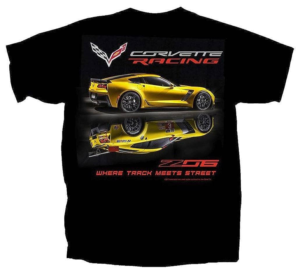 Joe Blow Mens Corvette C7 Z06 Track Meets Street T-Shirt CVTMS-B