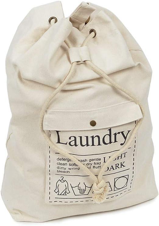 Bolsa de almacenamiento grande con cordón de lona de algodón de ...