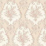 Mirage 2530-20544 Viola Damask Wallpaper, Pink
