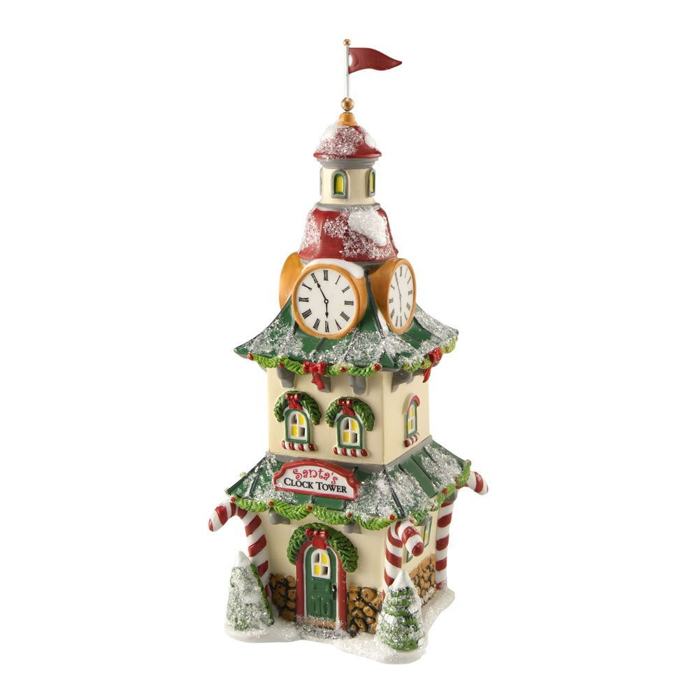 Department 56 North Pole Village Clock Tower Accessory Figurine