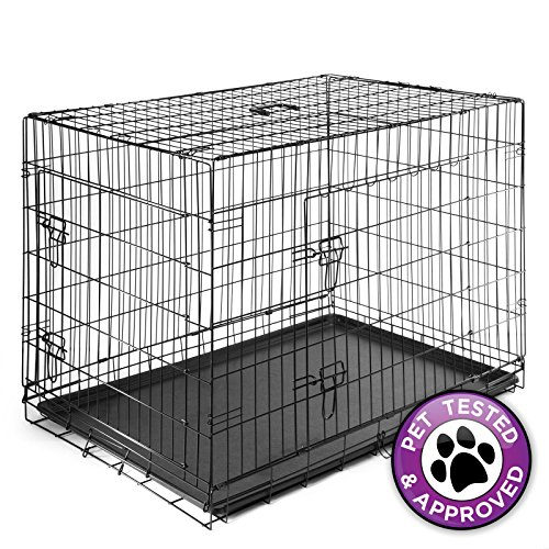 "XX-Large 48"" Dog Cage Crate Folding Kennel Pet Puppy Pen ..."