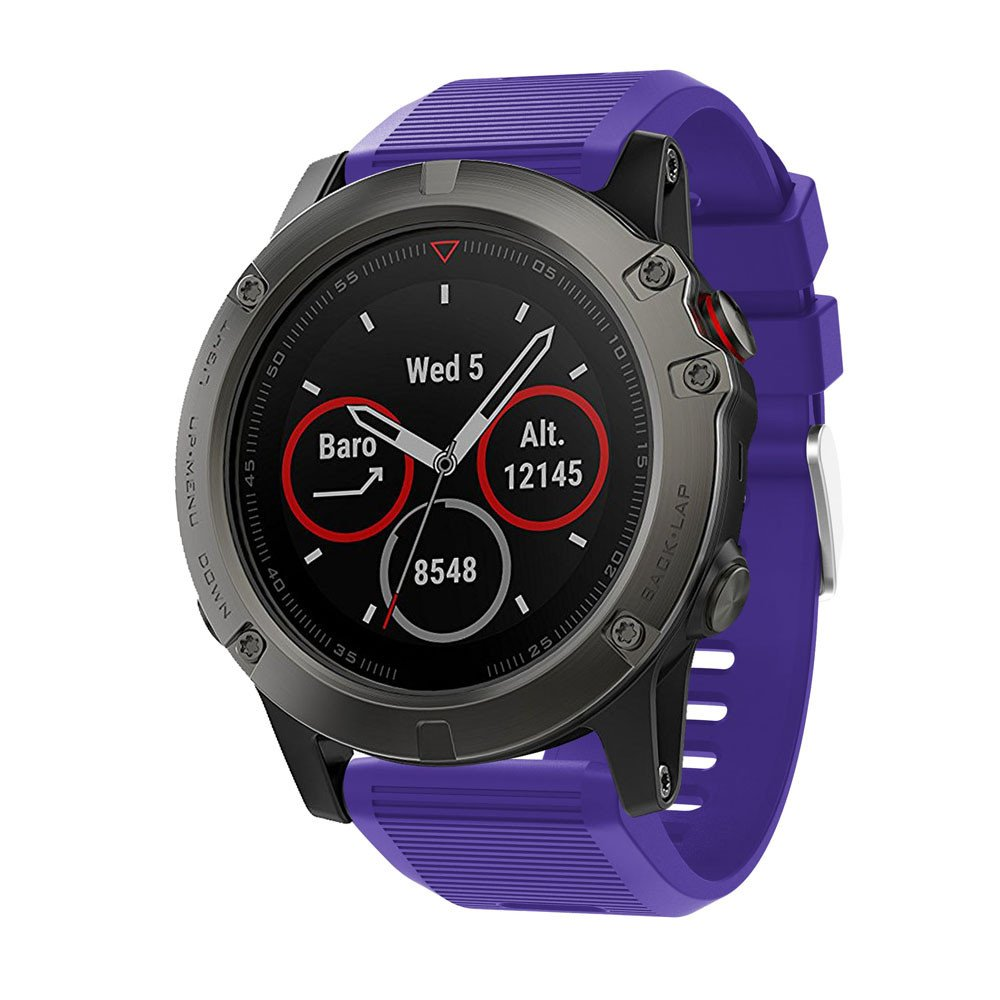 CSSD Clearance Fashion Replacement Silicone Soft Quick Release Kit Bands Straps For Garmin Fenix 5X (Purple)