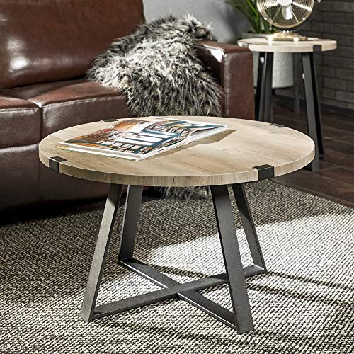 WE Furniture AZF30MWCTGW Coffee Table, Grey Wash for sale  Delivered anywhere in USA