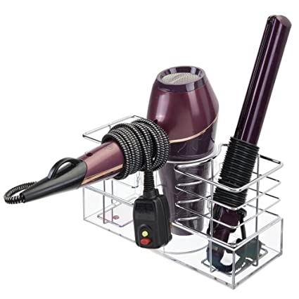 mDesign porta arricciacapelli - organizer ideale per asciugacapelli ... cded48f0f1d5