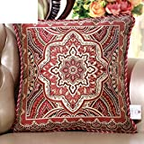 DXG&FX European-style sofa pillow cushions luxurious fabric cushion high-grade office nap pillow bedside soft inclusion core-C 56x56cm(22x22inch)