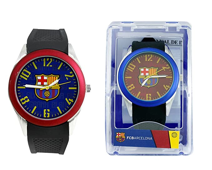 Reloj analógico de caballero F.C.BARCELONA - Bisel granate - Escudo F.C. Barcelona: Amazon.es: Relojes