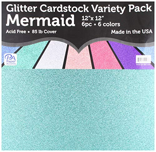 PA Paper Accents ADP1212.1118 Variety Pk 12x12 Glitter, None