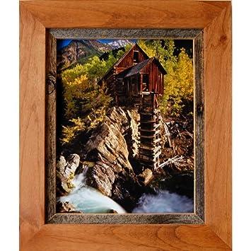 rustic frames 16x20 alder wood barnwood frame sagebrush series